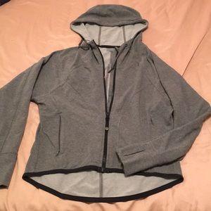 Athleta dolman sleeve jersey hoodie high low crop